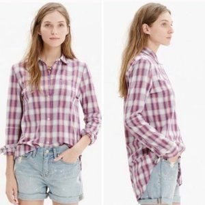 Madewell Ex-Boyfriend Shirt Manhasset Plaid  A3-23